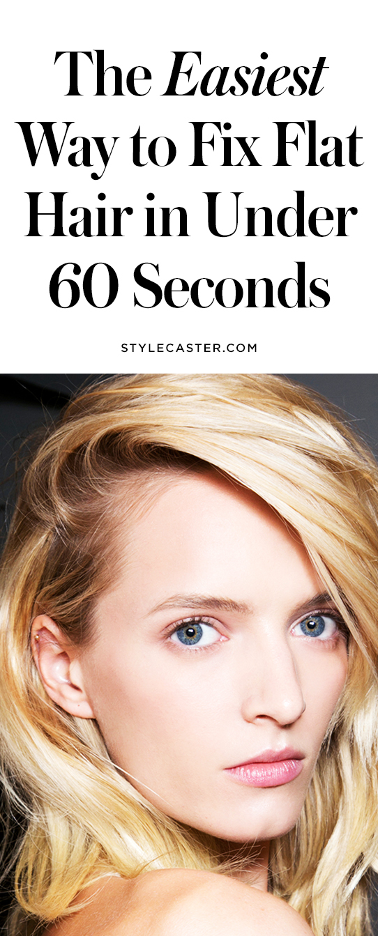 How to fix flat hair in under a minute | @stylecaster
