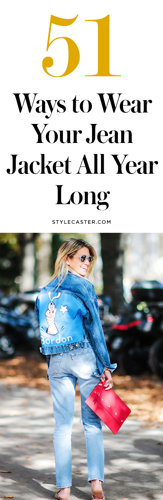 How to wear a jean jacket   @stylecaster