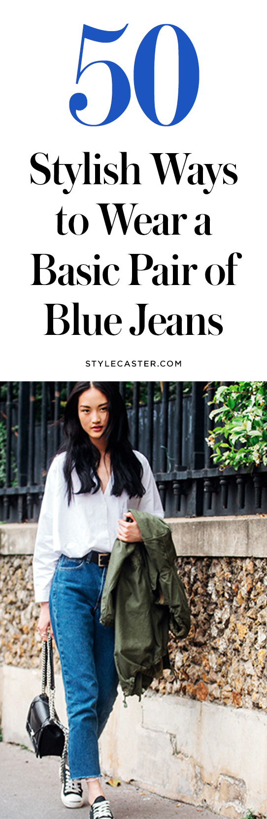 How to wear blue jeans | @stylecaster