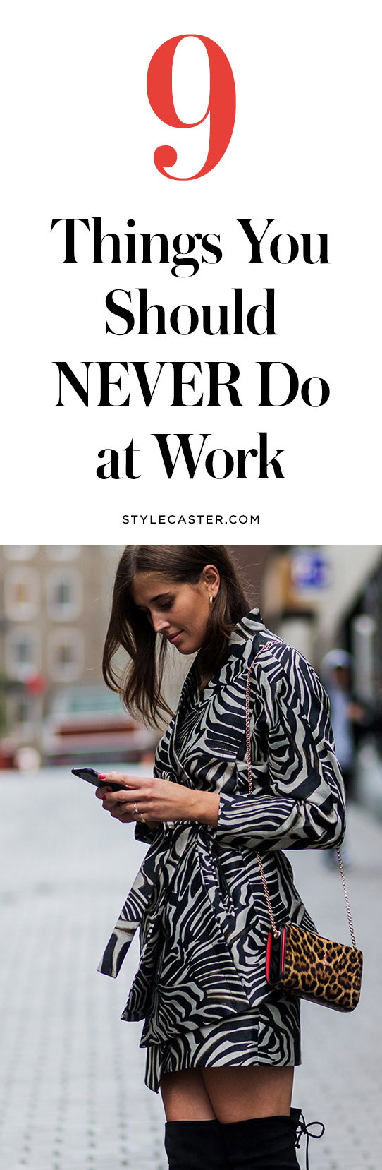 9 things you shouldn't do at work | @stylecaster