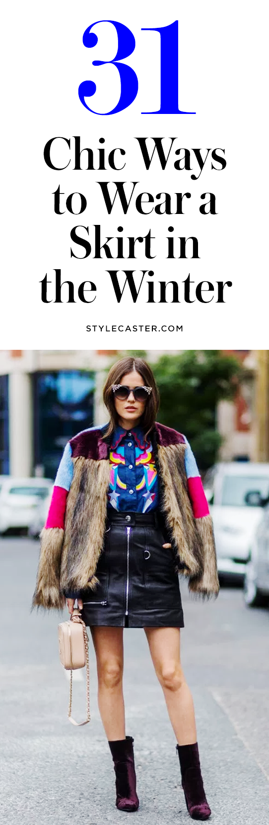 31 Winter Skirt Outfit Ideas to Copy Right Now - If you're sick of layering up, we have good news: it's possible to bare your legs in cold weather and not freeze. Click through to see 31 street style outfits that show you how to wear a skirt in the winter.