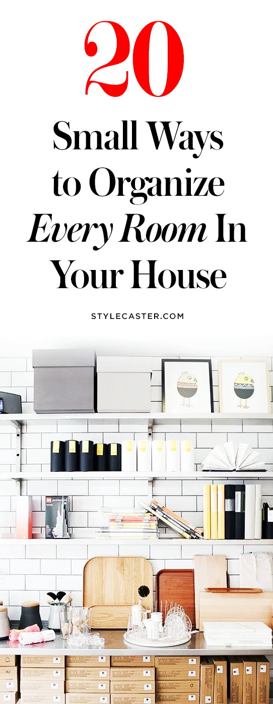 20 Small Ways to Organize Every Room in Your House | @stylecaster