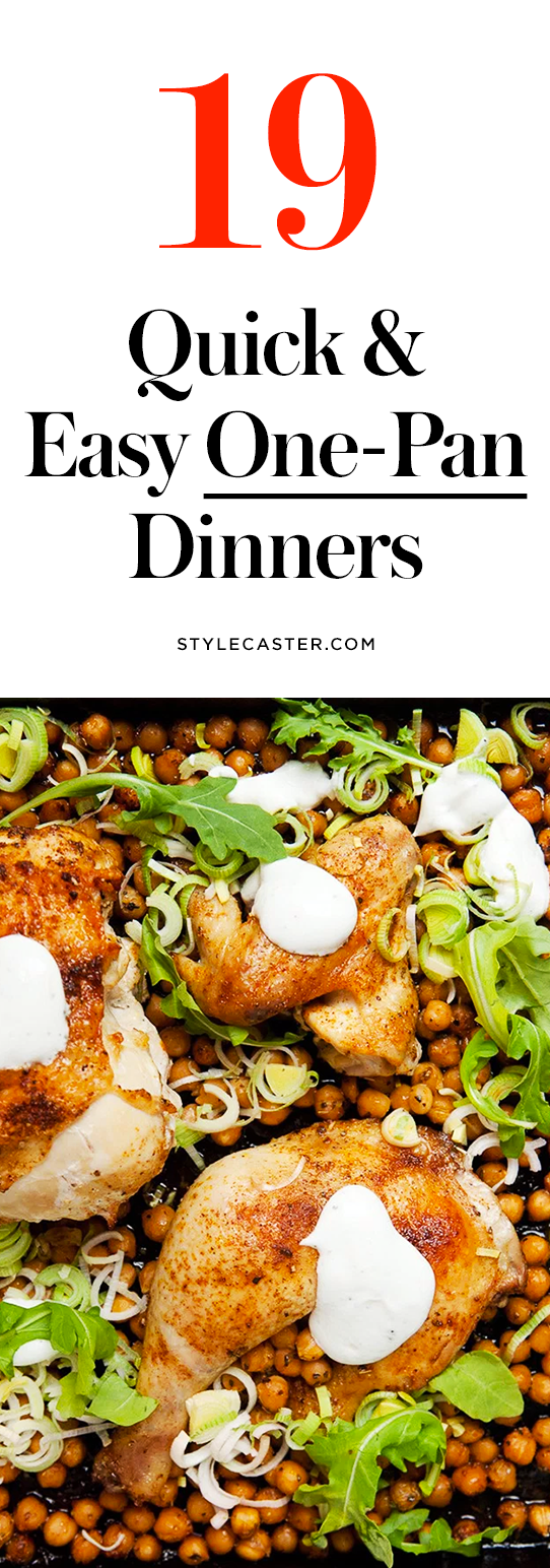 19 Quick & Easy One-Pan Dinner Recipes   Toss everything on a single sheet pan and pop it in the oven!   @stylecaster