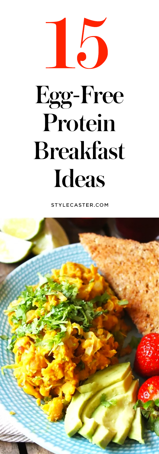 15 Egg-Free Protein Breakfast Ideas | If you're not a fan of eggs, allergic, or vegan it can be hard to find breakfast options that are delicious and filling. Thankfully there are a lot of protein-packed, egg-free meals to help you start your day off right. @stylecaster