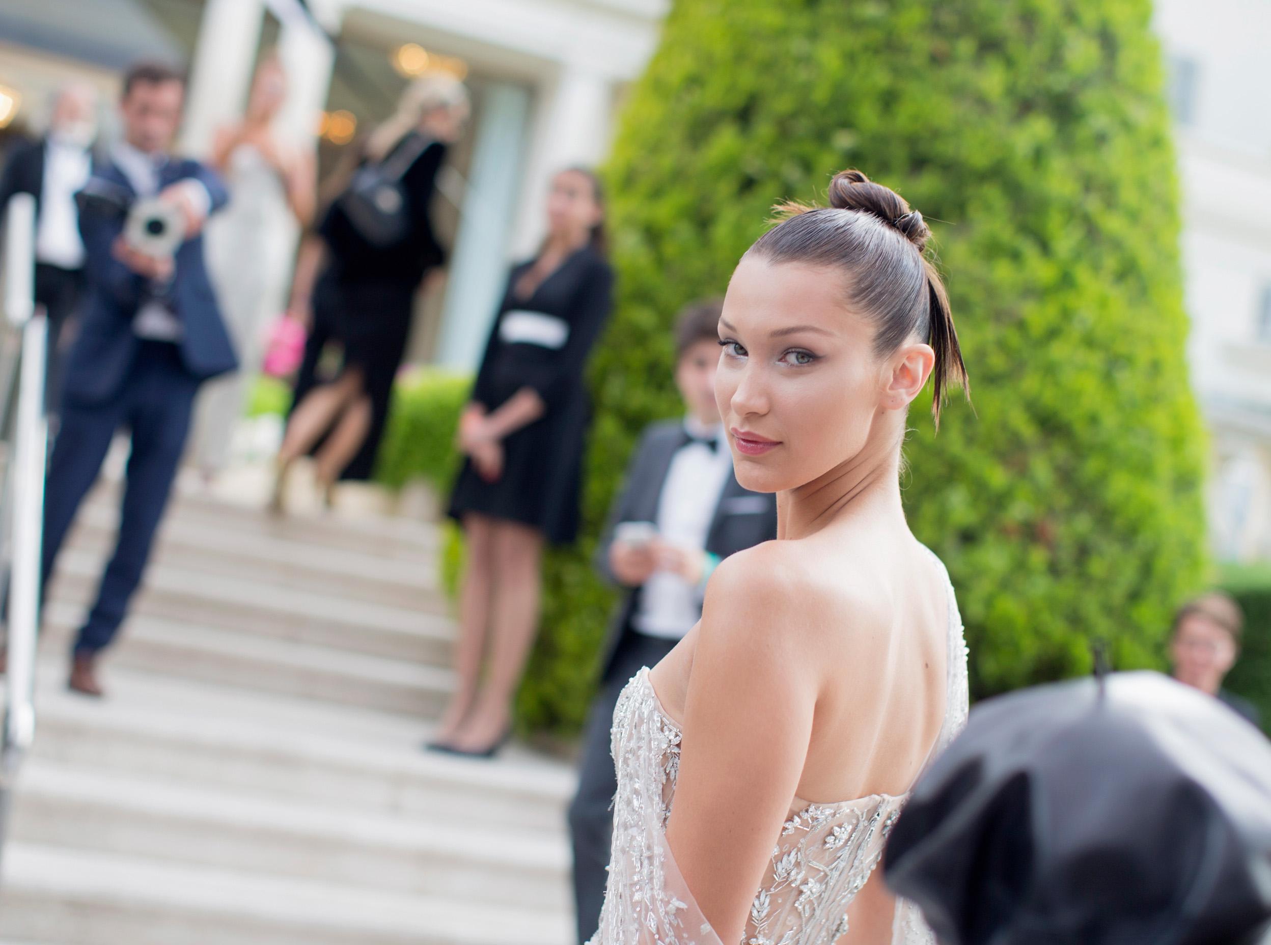 Bella Hadid Suffers Wardrobe Malfunction at Cannes Film Festival