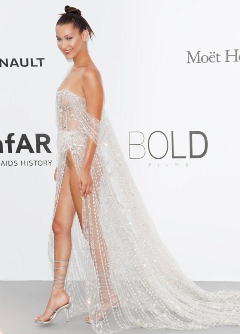 bella hadid amfar gala 3 Bella Hadid Suffers Wardrobe Malfunction at Cannes Film Festival