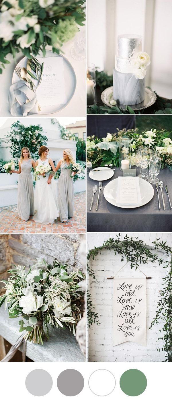 elegant and romantic grey and white greeneery wedding ideas 50 Genius Wedding Ideas to Help You Throw the Most Unique Wedding Ever