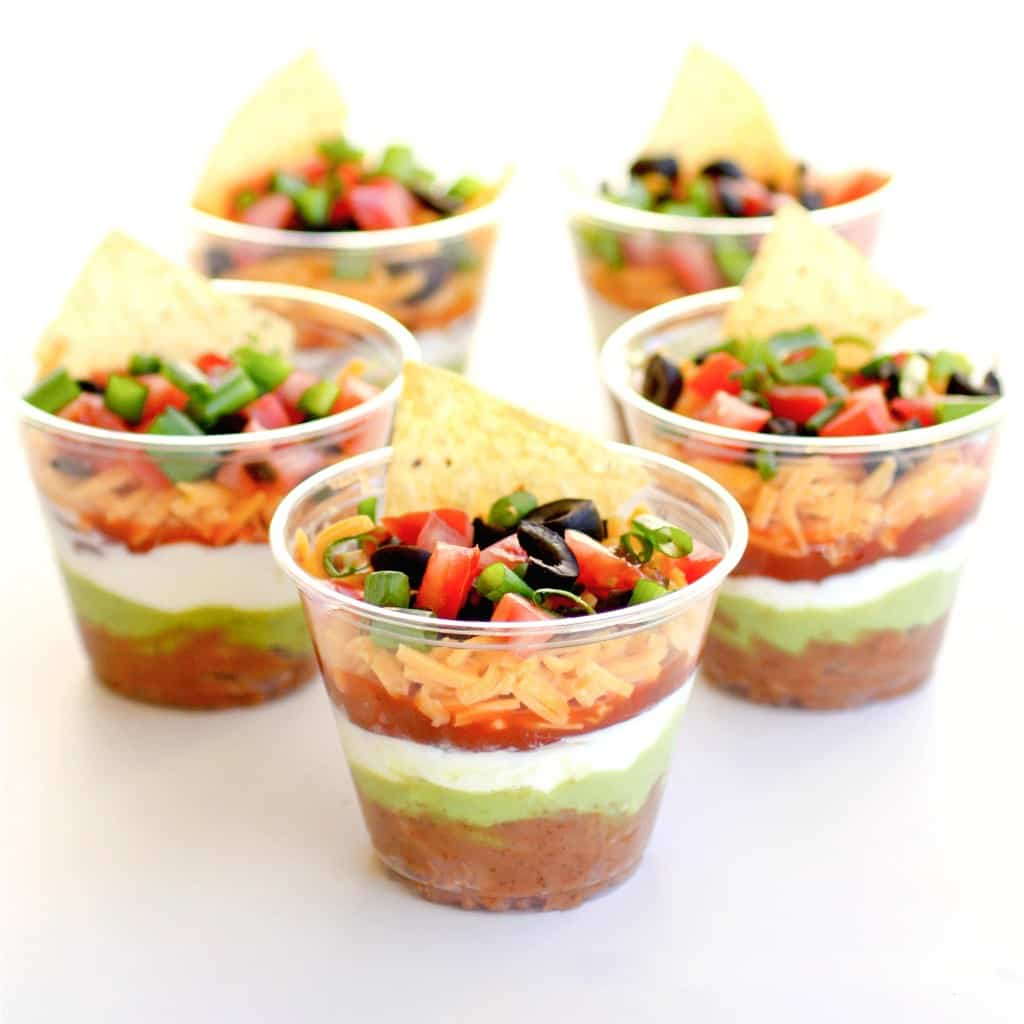 individual seven layer dips 30 Creative Outdoor Entertaining Ideas for the Ultimate Soirée