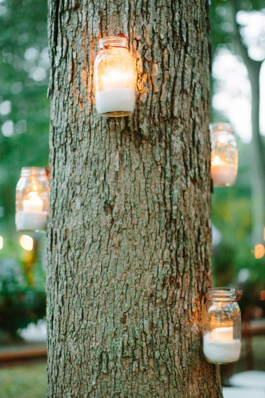 mason jar candle lights 20 Stylish, Modern and Easy Graduation Party Ideas