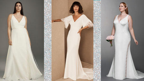19 Simple, Elegant Wedding Dresses For The Non-Traditional Bride | StyleCaster