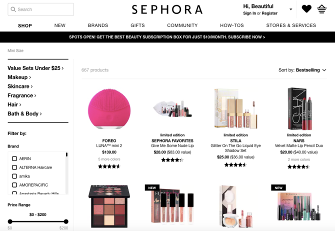 sephora travel size screenshot 27 Brilliant Travel Tips—From Booking and Packing to Vacationing