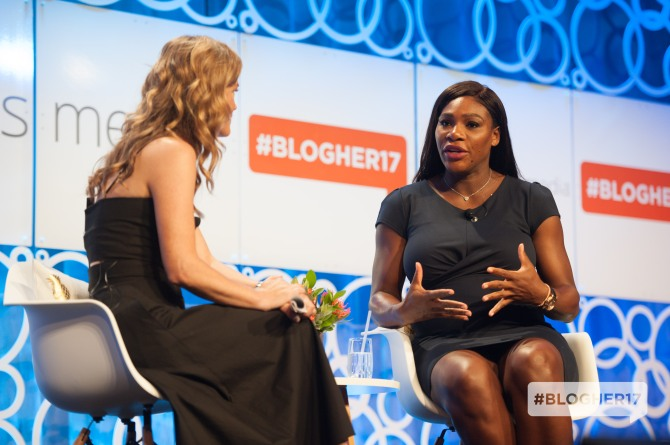 serena williams blogher17 2 Heres What Serena Williams Is Up to Post Pregnancy Announcement