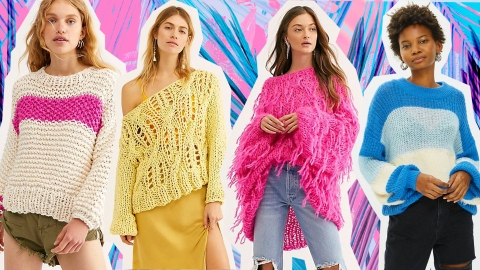Summer Sweaters to Shop, Because Warm-Weather Coziness Is Definitely a Thing | StyleCaster