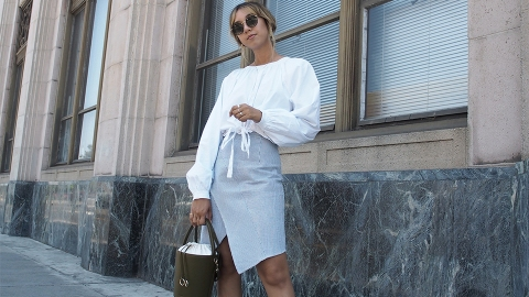 How to Wear a Midi Skirt the Instagram-Girl Way | StyleCaster