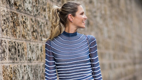 30 So-Pretty (and Non-Boring) Ponytails to Try This Summer | StyleCaster