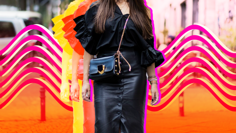 The Street Style Guide to Wearing Leather in the Summer | StyleCaster