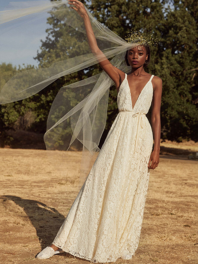 reformation montego dress The 13 Best Places to Buy Wedding Dresses on the Cheap