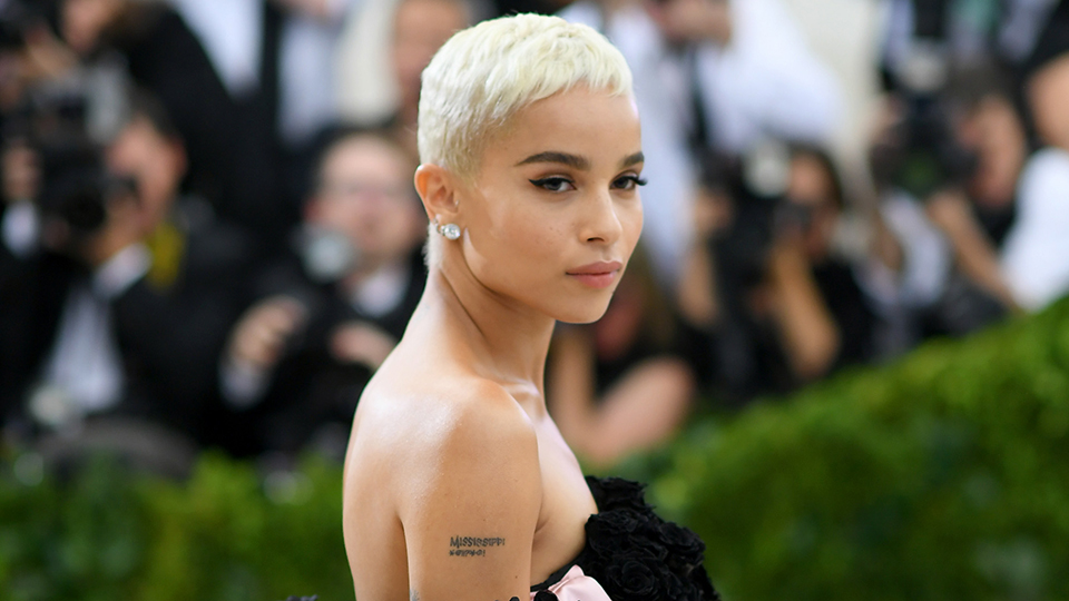 Zoe Kravitz Dyed Her Pixie Cut Dark Brown, and We're Obsessed