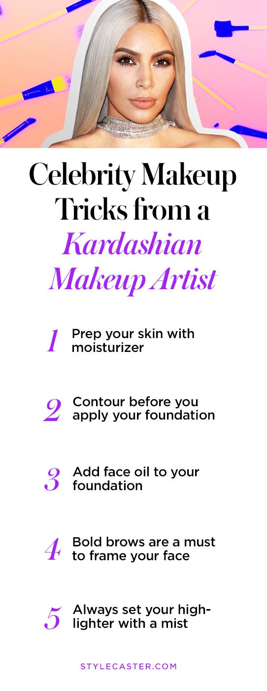 Pin it! Celebrity Makeup Tricks from a Kardashian Makeup Artist