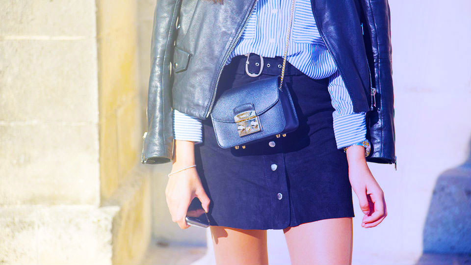STYLECASTER | Button-Front Skirt Outfit Ideas