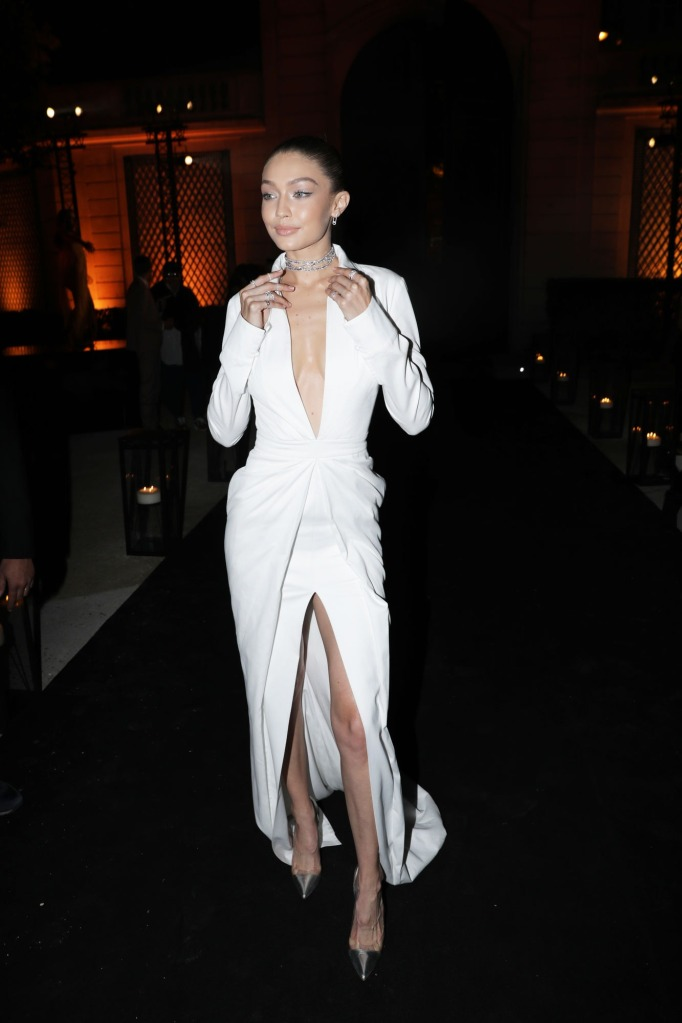 Gigi Hadid Style: Wearing a white dress by Brandon Maxwell