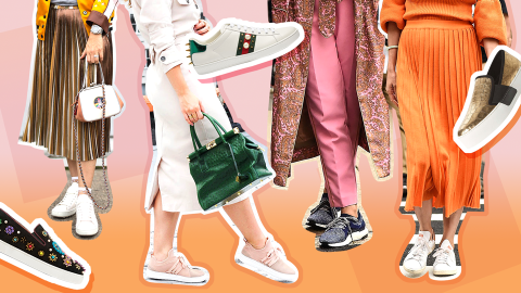 20 Chic Ways to Wear Sneakers to Work   StyleCaster