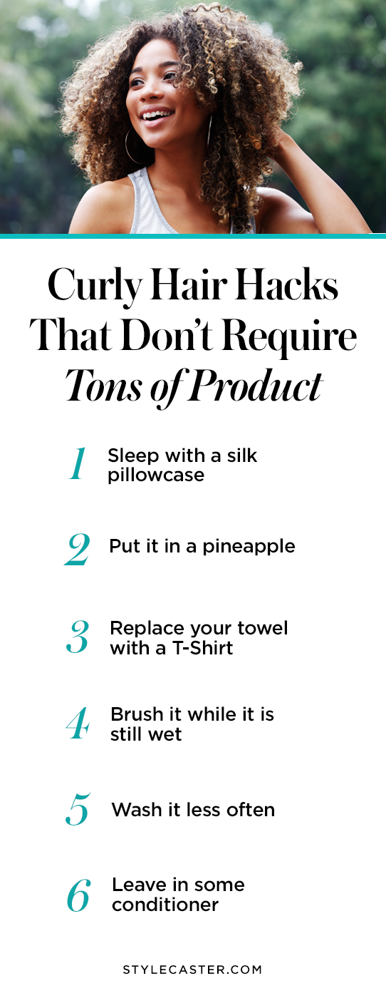 Pin it! Curly Hair Hacks That Don't Require Tons of Product