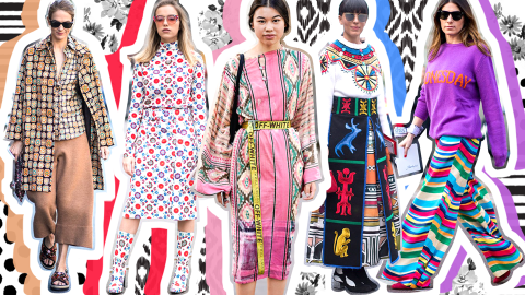 30 Ways to Wear Graphic Prints This Season | StyleCaster