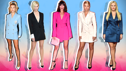 How to Wear a Blazer as a Dress, According to Chic Celebrities | StyleCaster