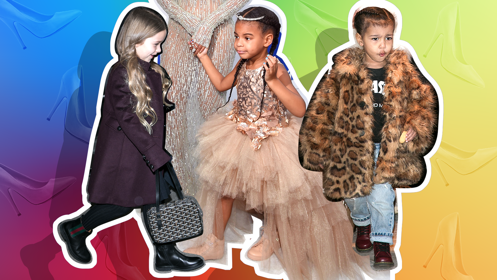 10 Adorable Times Celebrity Daughters Tried Walking in Their Moms' High Heels