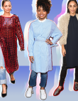 17 Celebrities Who Pulled off the Dresses-Over-Pants Look