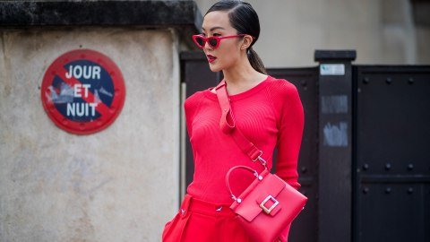 The Street Style Star Way to Wear a Monochromatic Outfit   StyleCaster