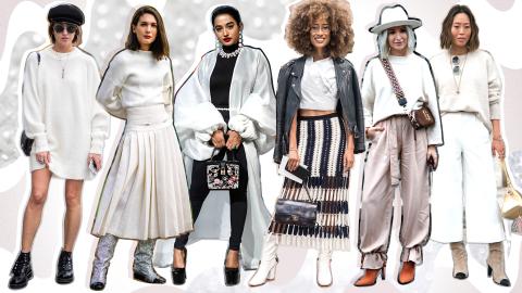 30 Stunning Ways to Wear Winter Whites This Season | StyleCaster