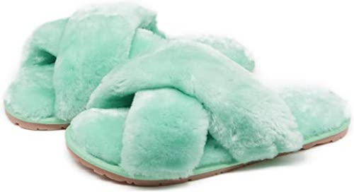 STYLECASTER | Best Slippers | mint fuzzy slippers