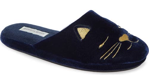 STYLECASTER | Best Slippers | winking cat slippers