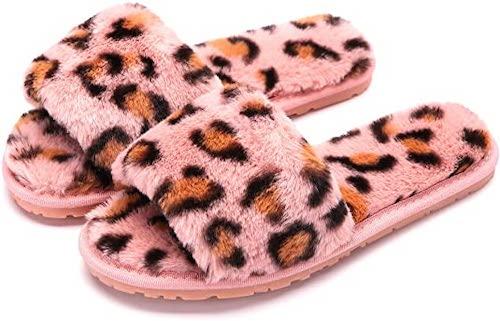 STYLECASTER | Best Slippers | pink leopard slipper