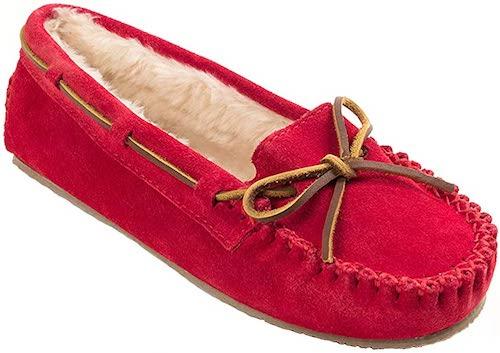 STYLECASTER | Best Slippers | minnetonka red slipper