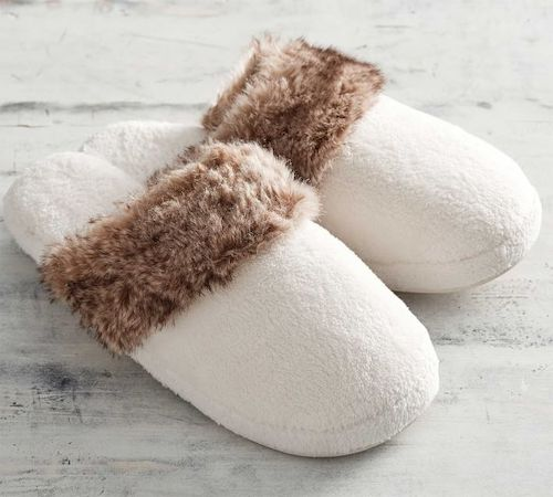 STYLECASTER | Best Slippers | faux fur slipper