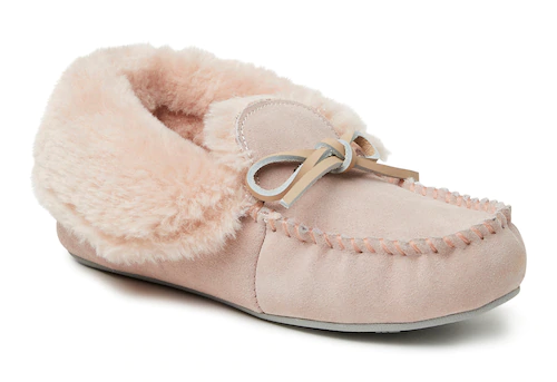 STYLECASTER | Best Slippers | pink moccasin slippers