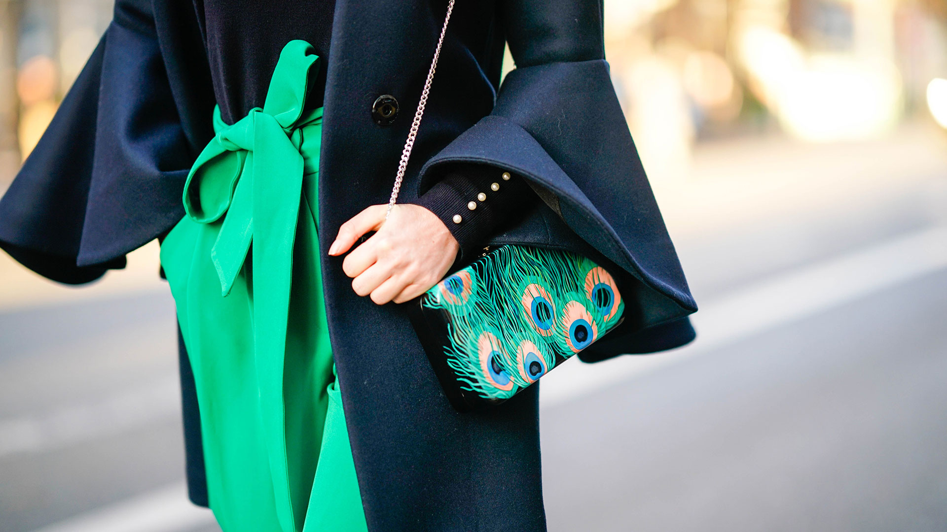 Blue Green Colorblocking Outfit