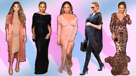 A Guide to Chrissy Teigen's Most Killer Maternity Looks   StyleCaster