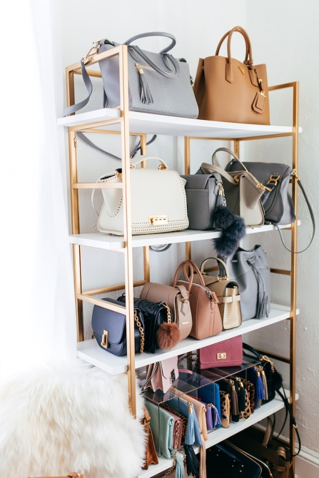 handbag shelf Simple Steps to Declutter Your Closet for a Fresh Fashion Start in 2018