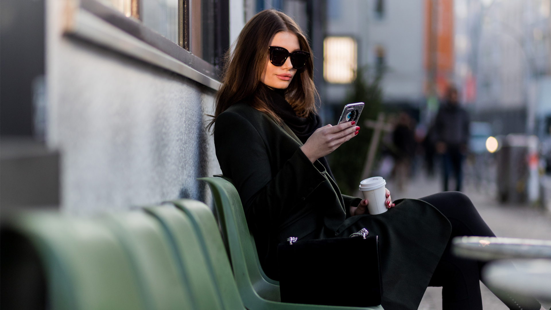 Single Woman on Bench