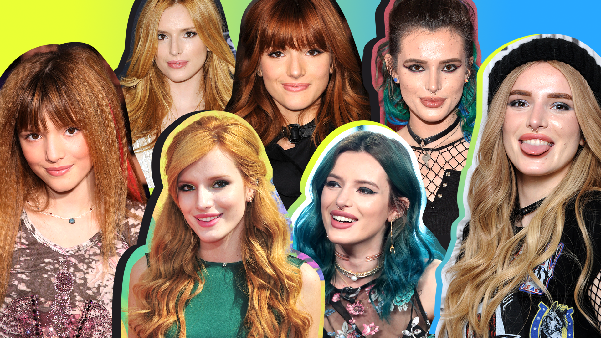 Bella Thorne's Crazy-Colorful Hair Evolution Will Have You Seeing the Rainbow