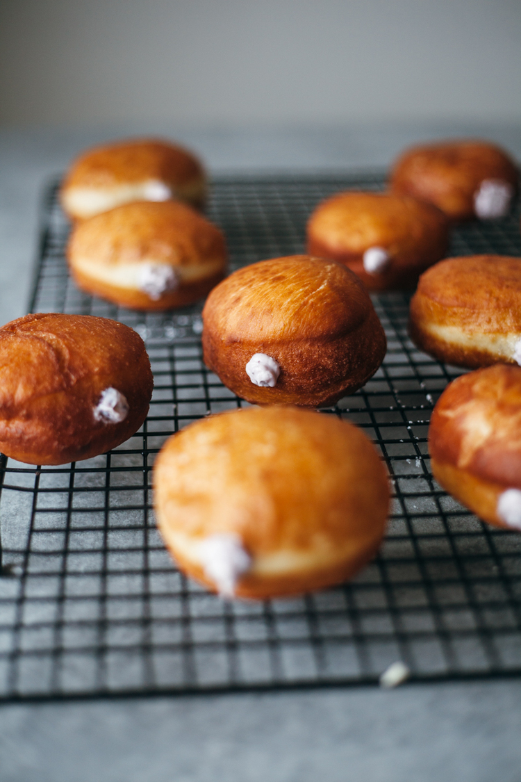 STYLECASTER | comfort food recipes | blueberry cream cheese donuts
