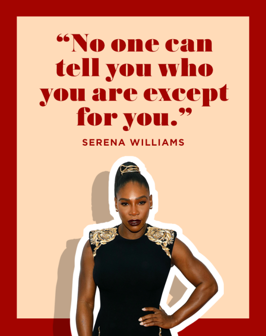 Serena Williams Positive Affirmation Quote