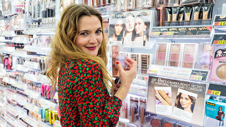 Drew Barrymore Loves Drugstore Beauty Products as Much as You