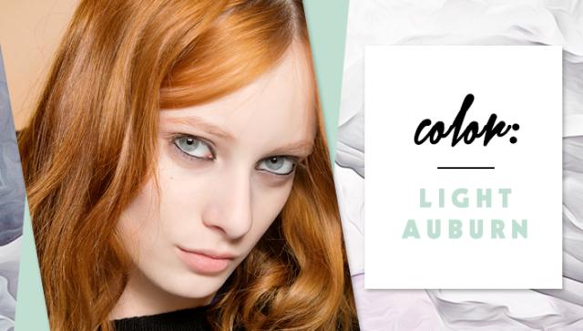 STYLECASTER | Simple Hair Color Chart for Every Shade | Light Auburn