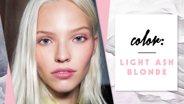 STYLECASTER | Simple Hair Color Chart for Every Shade | Light Ash Blonde