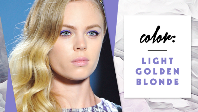 STYLECASTER | Simple Hair Color Chart for Every Shade | Light Golden Blonde